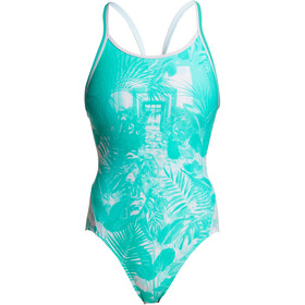 Funkita Diamond Back One Piece Badpak Dames, tropical sunrise